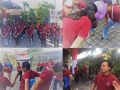 Peringati DIRGAHAYU Republik INDONESIA ke 74th, PT. BPR Naga Adakan Doa Bersama dan Upacara Bendera