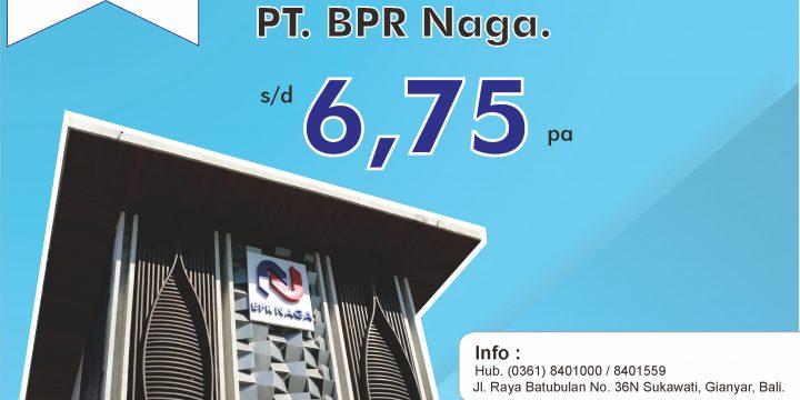 Suku Bunga Deposito LPS Terbaru di PT. BPR Naga